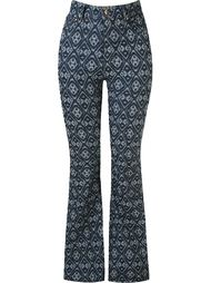 расклешенные джинсы с принтом  Amapô