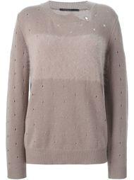 свитер с дырочками Agnona