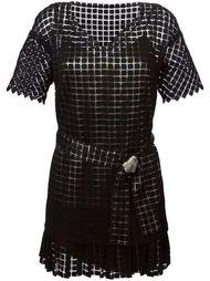платье с вышивкой в клетку  Marco De Vincenzo