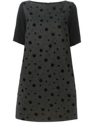 платье шифт в горошек  I'M Isola Marras
