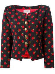 пиджак 'Rive Gauche' с принтом роз Yves Saint Laurent Vintage