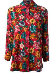 костюм с блузкой и юбкой в цветочный принт Kenzo Vintage