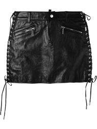 короткая юбка с декоративной шнуровкой  Dsquared2