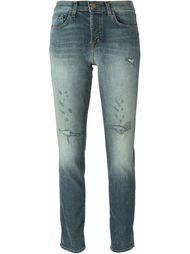 линялые джинсы кроя скинни  J Brand
