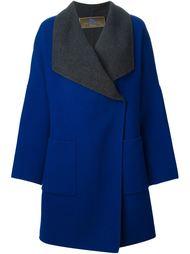 свободное пальто с контрастными рукавами  Etro