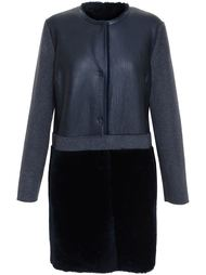 пальто с контрастными деталями Yves Salomon