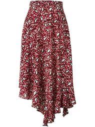 асимметричная юбка с леопардовым принтом   Stella McCartney
