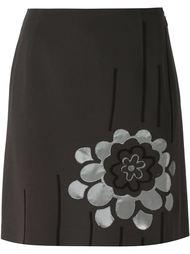 юбка с цветочной аппликацией  Moschino Vintage
