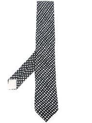 галстук с ромбовидным узором Hermès Vintage