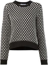 свитер крупной вязки с контрастным узором T By Alexander Wang