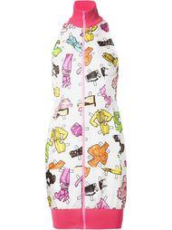 платье на молнии с высоким горлом Moschino