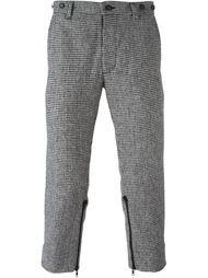 укороченные брюки с ломаную клетку KTZ