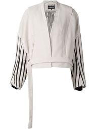 куртка с полосками на рукавах Ann Demeulemeester