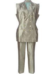 брючный костюм с пиджаком без рукавов Jean Paul Gaultier Vintage