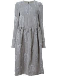 платье с длинными рукавами и вышивкой Alice Waese