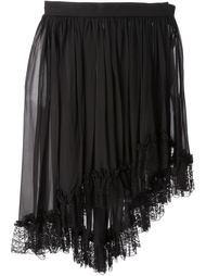 асимметричная юбка из шифона Yves Saint Laurent Vintage