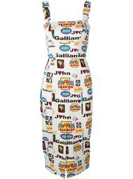 платье с принтом Formula 1  John Galliano Vintage