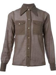 рубашка с заостренным воротником  Yves Saint Laurent Vintage
