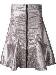 расклешенная юбка с эффектом металлик  KTZ
