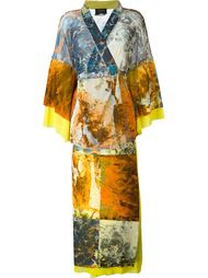 юбка и топ-кимоно в принт  Jean Paul Gaultier Vintage