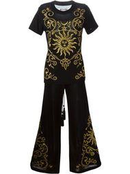 брюки и топ с вышивкой Moschino Vintage