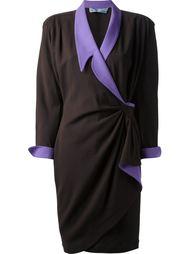 платье со сборкой на талии Thierry Mugler Vintage