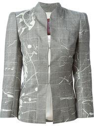 пиджак в ломаную клетку  John Galliano Vintage