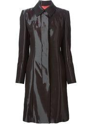 однобортное пальто с отливом Jean Louis Scherrer Vintage