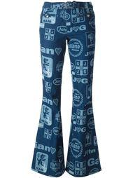 расклешенные джинсы с принтом логотипа John Galliano Vintage