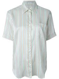 рубашка в полоску с короткими рукавами Céline Vintage