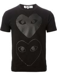 футболка с принтом в виде сердца Comme Des Garçons Play