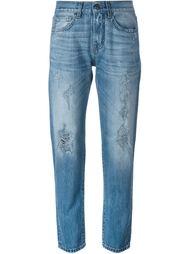 джинсы в стиле бойфренд с рваными деталями   P.A.R.O.S.H.