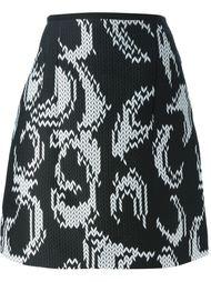 жаккардовая юбка с узором  Odeeh