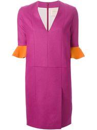 платье с контрастными манжетами Roksanda