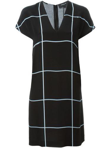 платье шифт в клетку Derek Lam