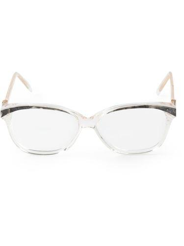 очки с мраморным эффектом Yves Saint Laurent Vintage