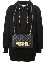 толстовка с сумкой через плечо  Moschino