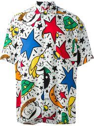рубашка в принт 'Mafalda Cartoon'  Jc De Castelbajac Vintage