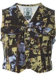 жилет с фото-принтом  Jean Paul Gaultier Vintage