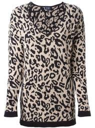 свитер с леопардовым узором-интарсией Armani Jeans