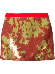 жаккардовая юбка мини Emanuel Ungaro