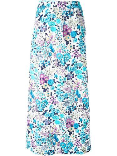 юбка с цветочным принтом Céline Vintage