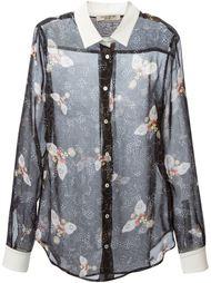 прозрачная рубашка с принтом в пчёлы Piccione.Piccione