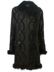 пальто с тисненым узором  Lanvin