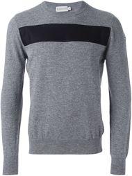 свитер с контрастной полоской на груди Moncler