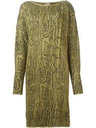 вязаное платье с узором Krizia Vintage