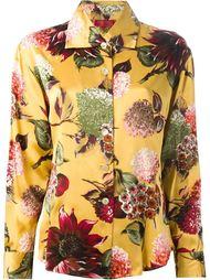 рубашка с крупными цветами Kenzo Vintage