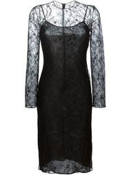 облегающее кружевное платье  Givenchy