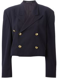 укороченный двубортный пиджак Yohji Yamamoto Vintage