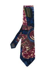 галстук с абстрактным принтом   Claude Montana Vintage